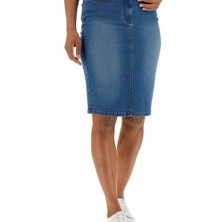 24/7 Blue Denim Skirt