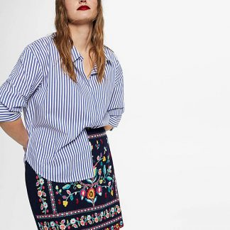 Violeta by Mango Embroidered Skirt