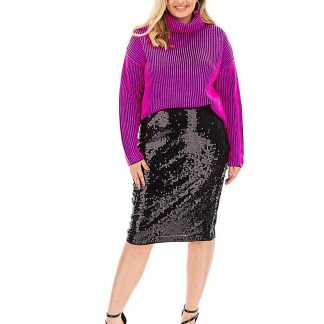 Sequin Pencil Skirt