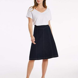 Julipa Jersey Denim Look Skirt 25