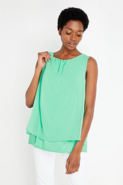 Tall Double Layer Shell Top