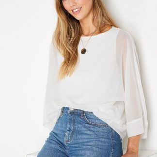 Tall Slash Neck Over-Layer Top