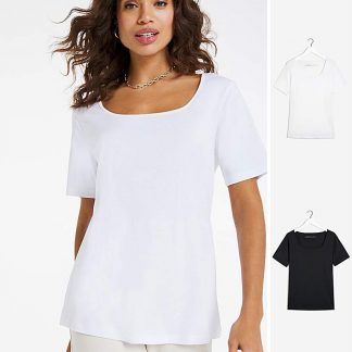2 Pack Square Neck top