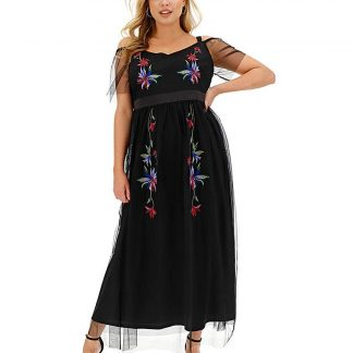 Lovedrobe Embroidered Cami Maxi Dress